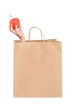 Grocery Bag Apple Stock Images