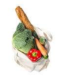 Grocery bag with fresh food Stock Image