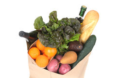 Grocery Bag with Fresh Vegetables Stock Image