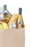 Grocery Bag With Handles Royalty Free Stock Image