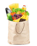 Grocery bag with healthy food Royalty Free Stock Photography