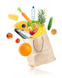 Grocery bag with healthy food Royalty Free Stock Image