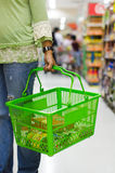 Grocery basket Stock Image