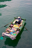 Grocery boat in Halong Bay,Vietnam Stock Image