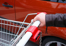 Grocery cart detail Royalty Free Stock Photo