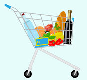 Grocery cart Stock Photography
