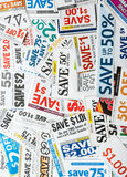 Grocery coupons Stock Photo
