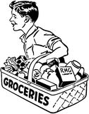 Grocery Delivery Boy Stock Photos