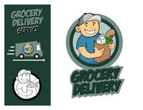 Grocery Delivery Service Concept. Stock Photos