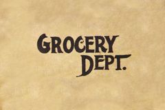 Grocery Dept. Royalty Free Stock Images