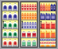 Grocery Display Case Royalty Free Stock Image