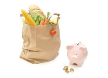 Grocery food budget Stock Images