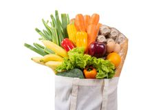 Grocery health food vegetable shopping at the supermarket royalty free stock image