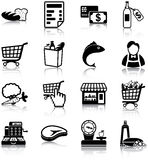 Grocery icons Stock Photography