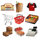 Grocery icons Royalty Free Stock Photo
