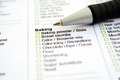 Grocery List stock photography