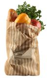 Grocery pack. Craft paper package from supermarket Royalty Free Stock Image