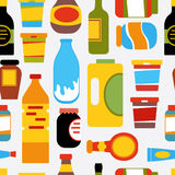 Grocery pattern Royalty Free Stock Image