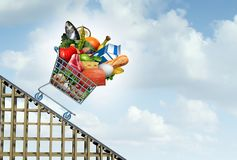 Grocery Prices Decrease stock illustration