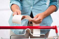 Grocery receipt Royalty Free Stock Image
