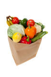 Grocery sack full of vegetables Stock Photography