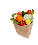 Grocery sack full of vegetables royalty free stock photography