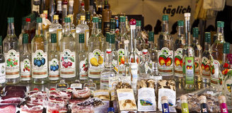 Grocery and schnapps shop at Viktualien Markt in Munich Royalty Free Stock Photos