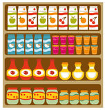 Grocery shelves. A  illustration of grocery shelves Stock Images