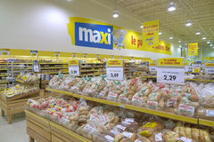 Grocery shop. Maxi montreal quebec grocery shop Royalty Free Stock Photography