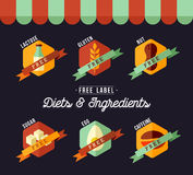 Grocery shop diet food labels for healthy eating Royalty Free Stock Photography