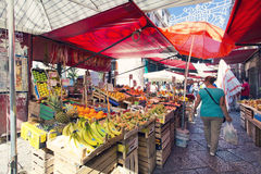 Grocery shop at famous local market Capo in Palermo, Italy Stock Photo