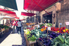 Grocery shop at famous local market Capo in Palermo, Italy Royalty Free Stock Photography