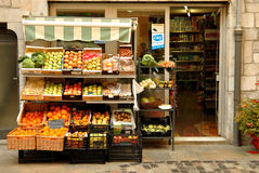 Grocery Shop In Spain Royalty Free Stock Photography