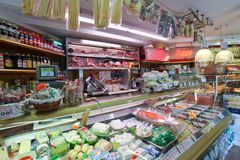 Grocery shop in Rome Stock Images