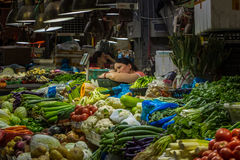 Grocery shop in Shanghai. China Royalty Free Stock Image