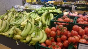 Vegetable section in store Royalty Free Stock Photography