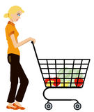 Grocery Shopping Royalty Free Stock Image