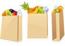 Grocery shopping bags Royalty Free Stock Photography