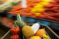 Grocery Shopping cart Royalty Free Stock Photography