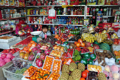 Grocery shopping in China Royalty Free Stock Photos