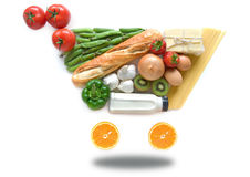 Grocery shopping concept Royalty Free Stock Images