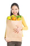 Grocery shopping female Royalty Free Stock Images