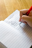 Grocery Shopping List. A closeup of someone writing out their grocery shopping list Stock Photography