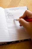 Grocery Shopping List Royalty Free Stock Photos