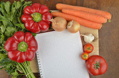 Grocery shopping list Royalty Free Stock Photo