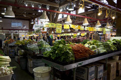 Grocery shopping in public market Royalty Free Stock Photography