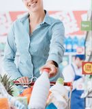 Grocery shopping at the store Royalty Free Stock Photography
