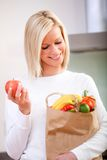 Grocery shopping woman Stock Image