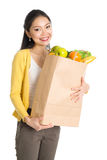 Grocery shopping woman Stock Images
