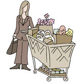 Grocery Shopping Woman Stock Photography